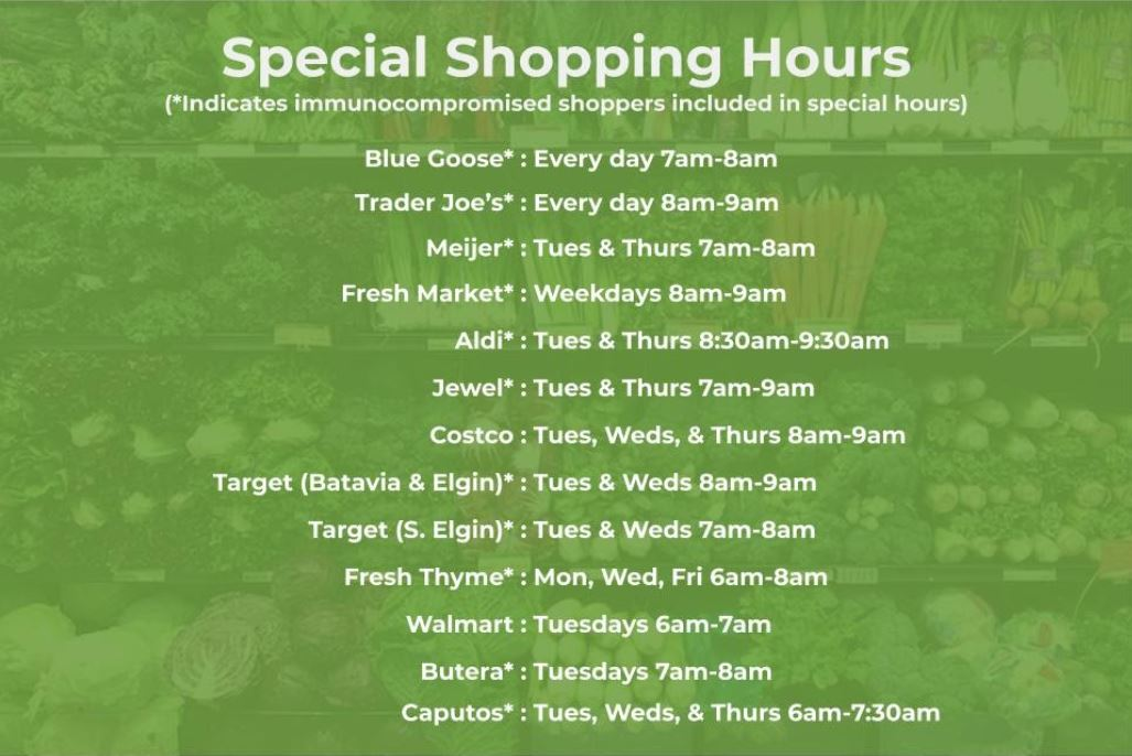 COVID-19 Special Grocery Hours